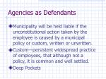 agencies as defendants