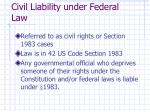 civil liability under federal law