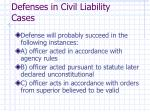 defenses in civil liability cases18