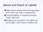 nature and extent of liability4