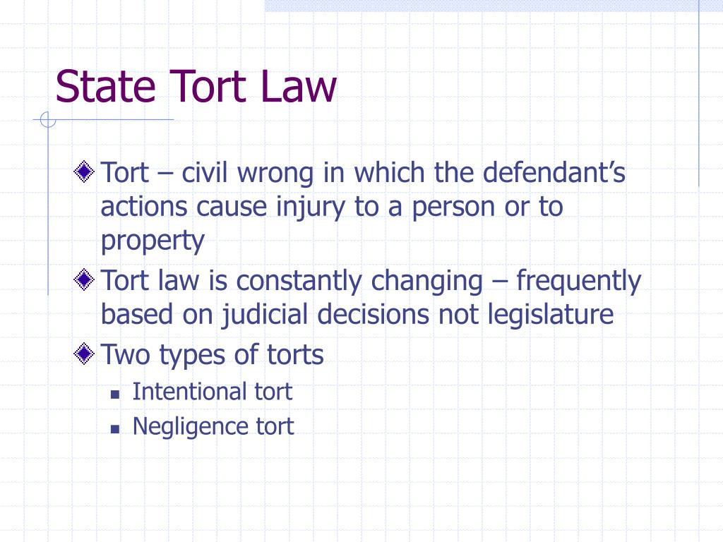 State Tort Law
