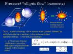 pressure elliptic flow barometer