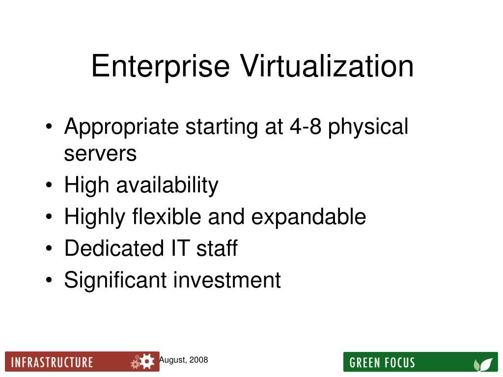 Enterprise Virtualization
