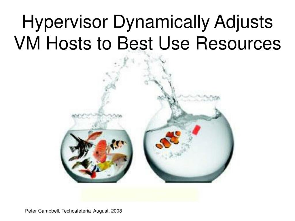 Hypervisor Dynamically Adjusts VM Hosts to Best Use Resources