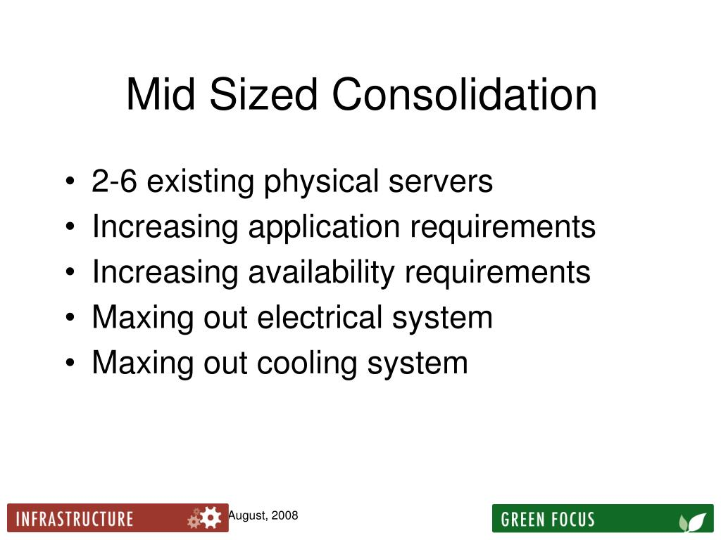 Mid Sized Consolidation