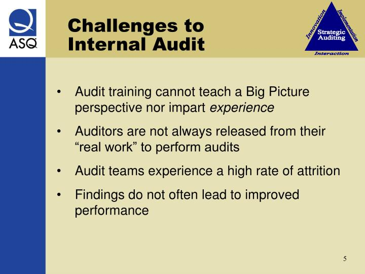 Challenges to   Internal Audit