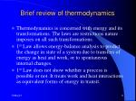 brief review of thermodynamics11