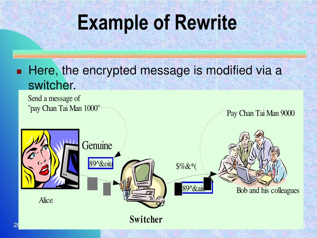 Example of Rewrite