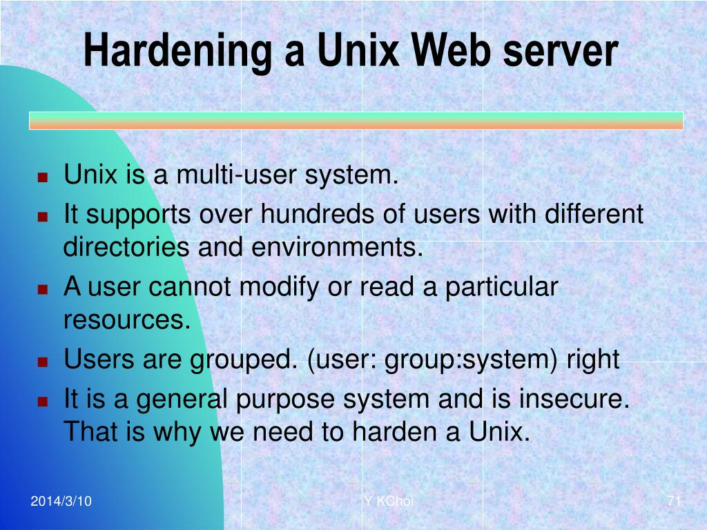 Hardening a Unix Web server
