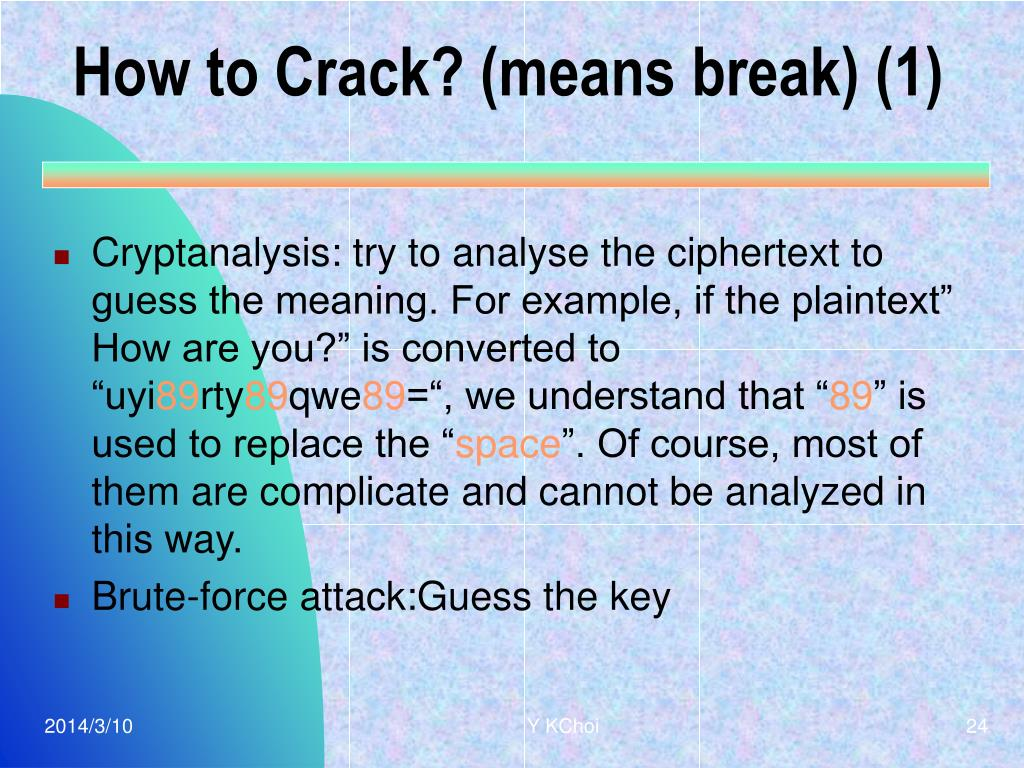How to Crack? (means break) (1)
