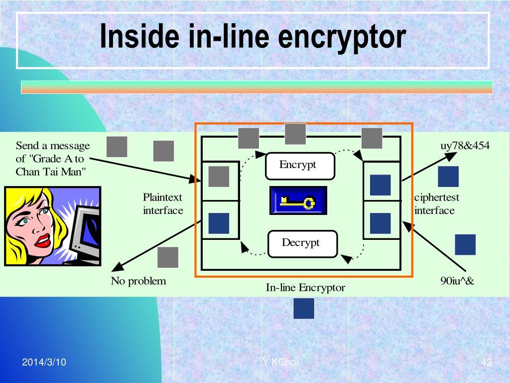 Inside in-line encryptor