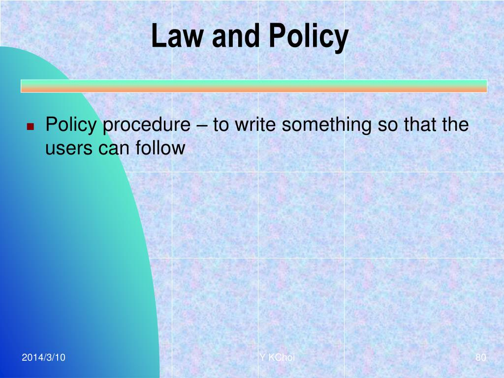 Law and Policy