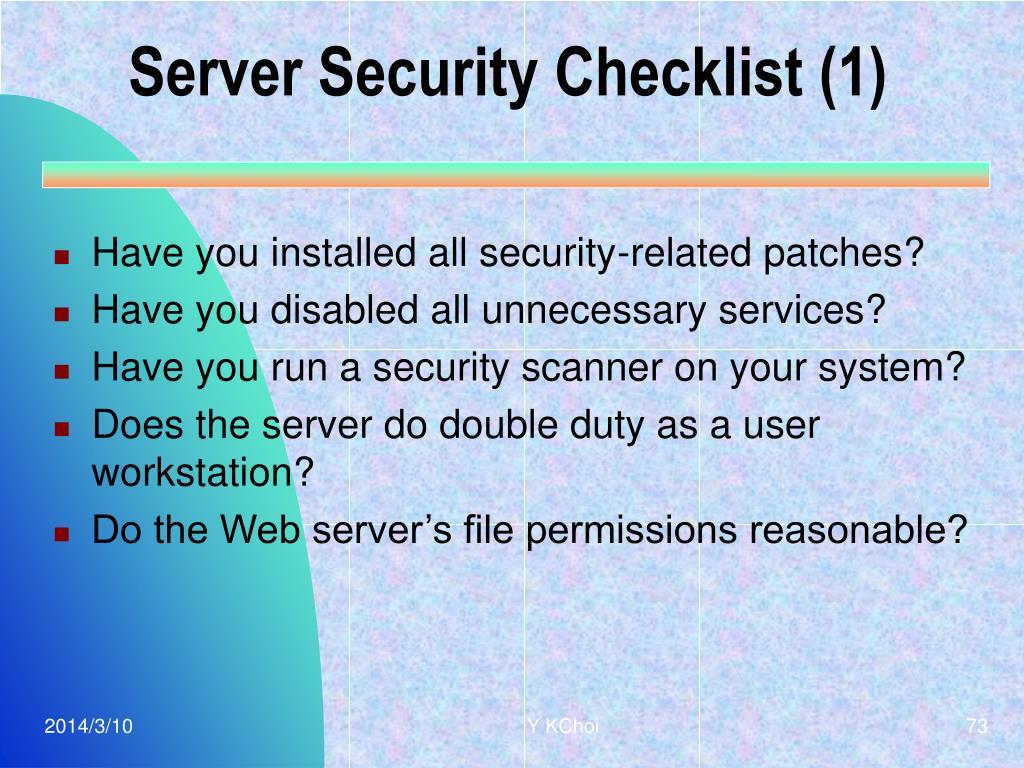 Server Security Checklist (1)