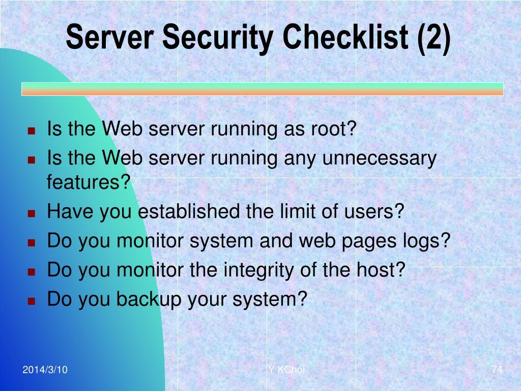 Server Security Checklist (2)
