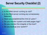 server security checklist 2