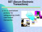set secure electronic transactions