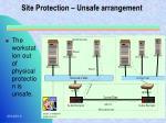 site protection unsafe arrangement