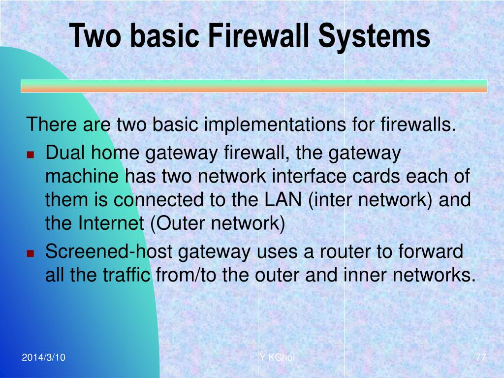 Two basic Firewall Systems