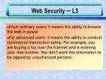 web security l3