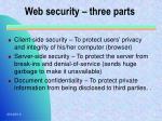 web security three parts