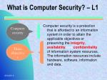 what is computer security l1