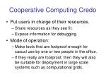 cooperative computing credo27