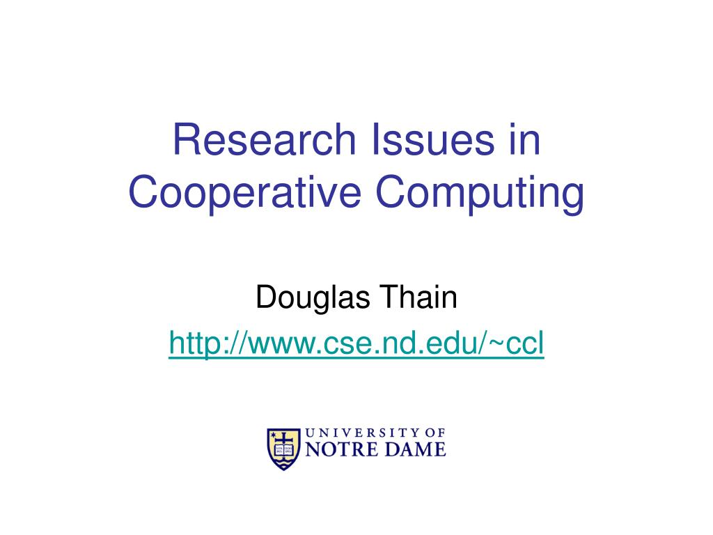 research issues in cooperative computing l.