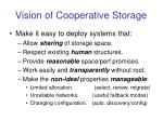 vision of cooperative storage