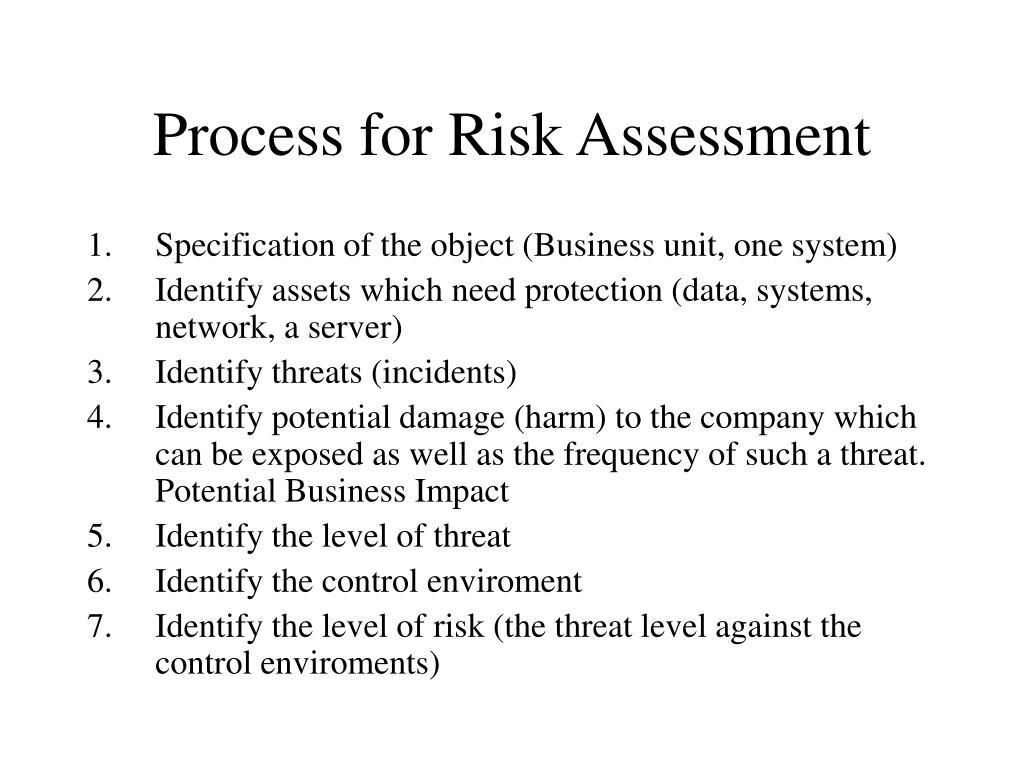 process for risk assessment l.