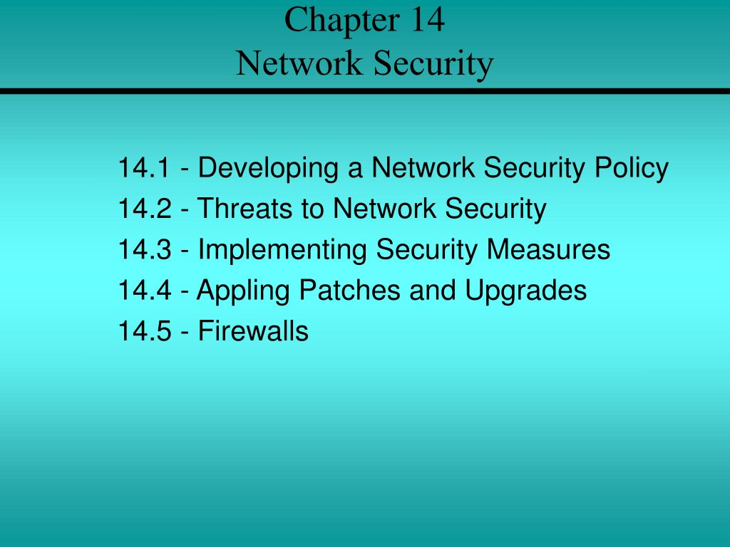 chapter 14 network security l.