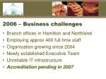 2006 business challenges