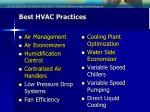 best hvac practices
