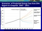 scenarios of projected energy use from epa report to congress 2007 2011