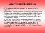 about active directory