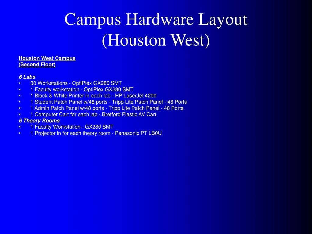 Campus Hardware Layout