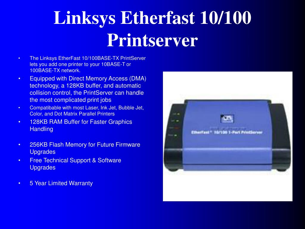 Linksys Etherfast 10/100 Printserver