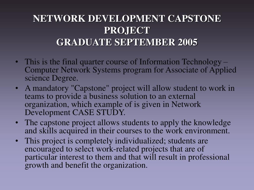 NETWORK DEVELOPMENT CAPSTONE PROJECT