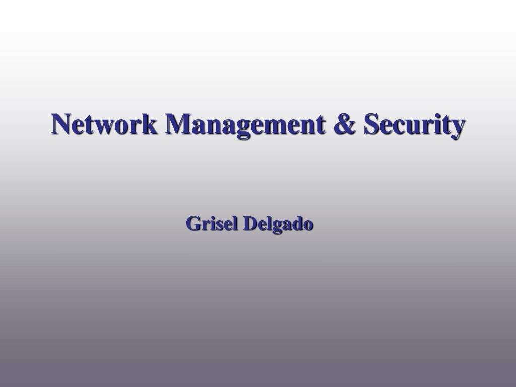 Network Management & Security