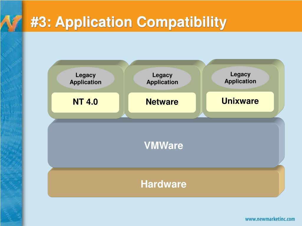 #3: Application Compatibility