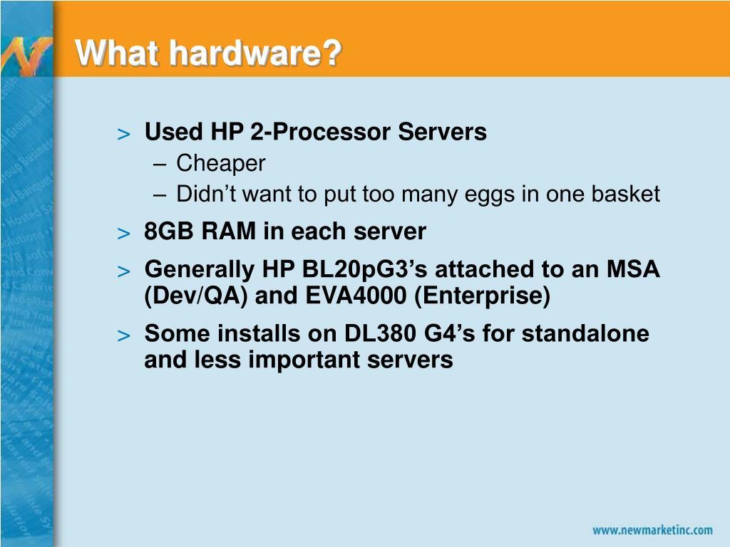 What hardware?