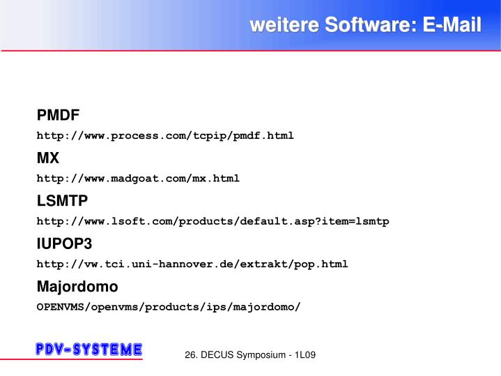 weitere Software: E-Mail