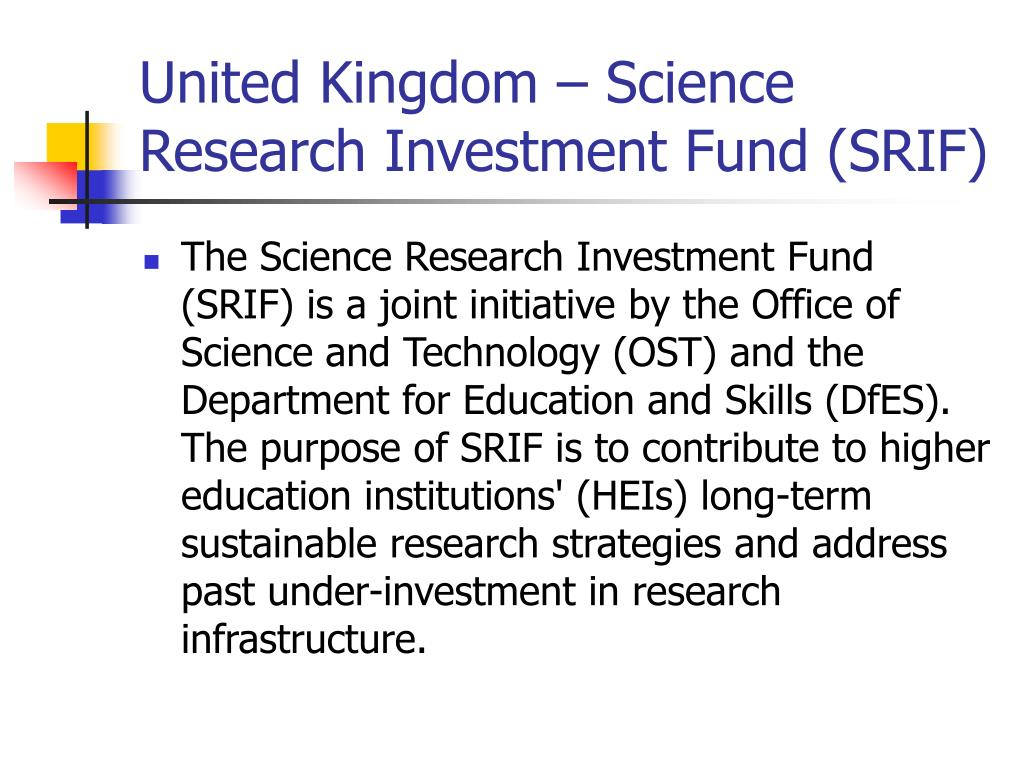 United Kingdom – Science Research Investment Fund (SRIF)