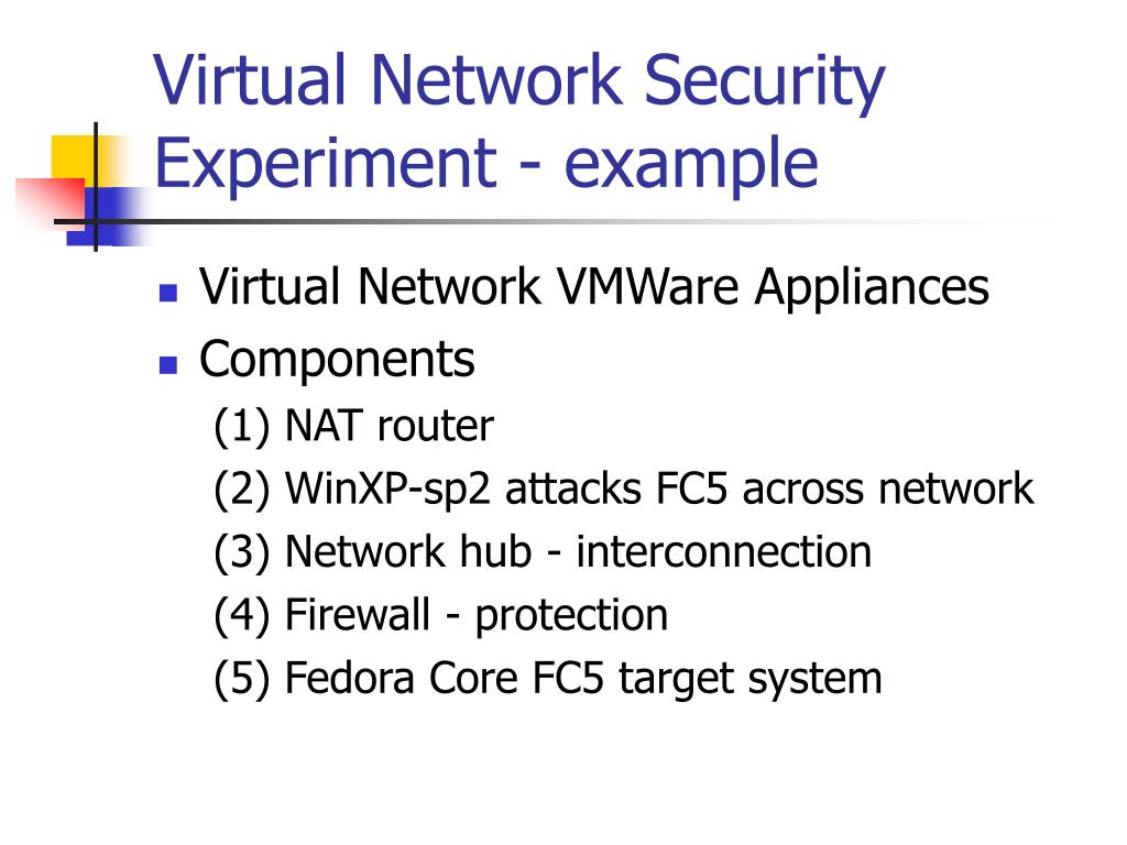 Virtual Network Security Experiment - example
