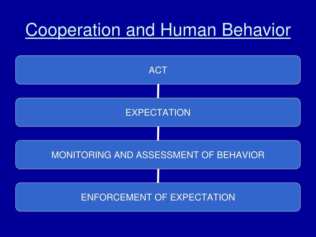 Cooperation and Human Behavior