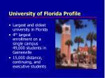 university of florida profile