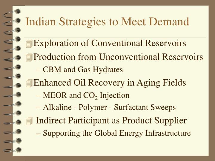Indian strategies to meet demand