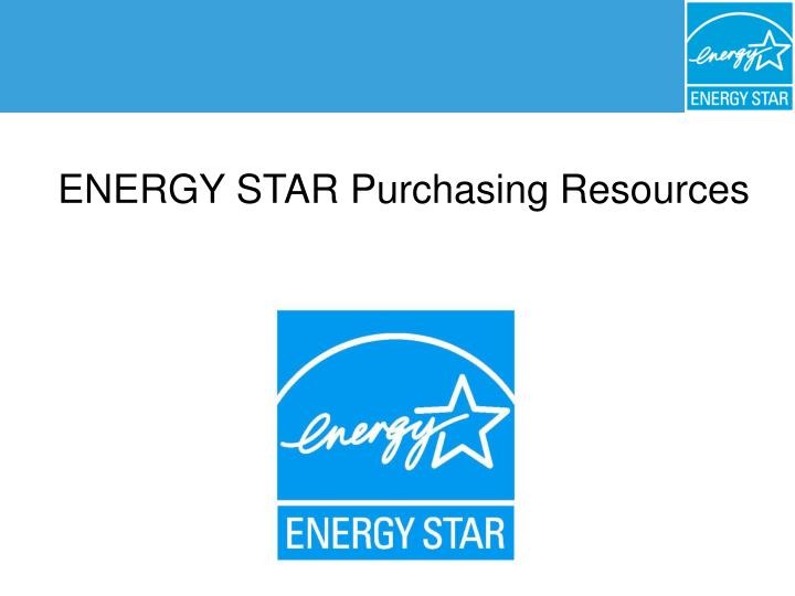 energy star purchasing and procurement