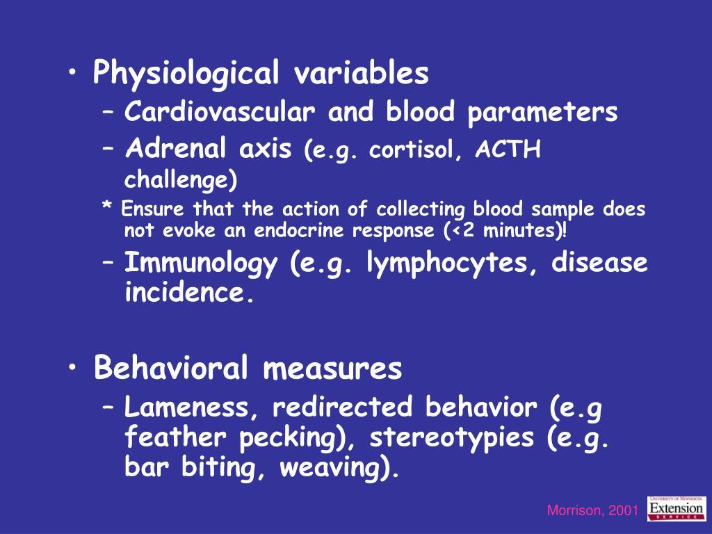 Physiological variables
