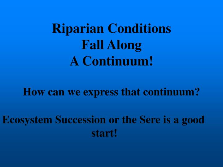 Riparian Conditions