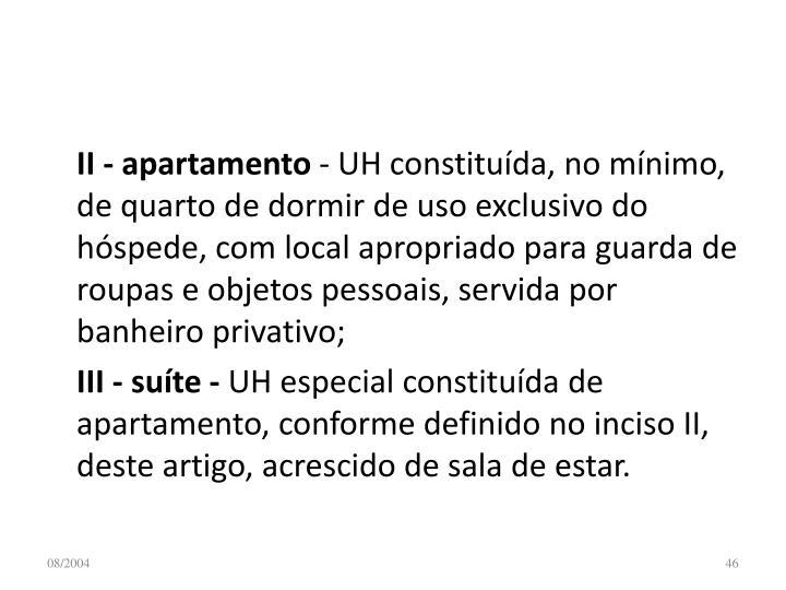 II - apartamento